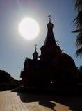 Silhoute Altea Calpe rysk för ortodox kyrka Royaltyfri Bild
