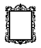 Silhoute of baroque mirror Stock Photo