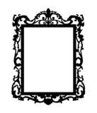Silhoute van barokke spiegel Stock Foto