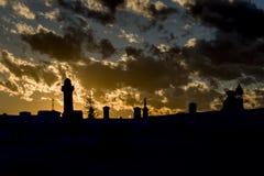 Silhoutedbegraafplaats Royalty-vrije Stock Fotografie