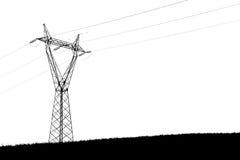 Silhoutette опоры стоковое изображение rf