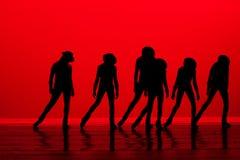 silhoutte танцульки Стоковое Изображение RF