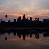 Silhoutte of Angkor Wat, Cambodia Stock Image