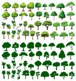 Silhoutte av träd stock illustrationer