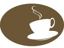 Silhoutte de la taza del café o de té Fotografía de archivo libre de regalías