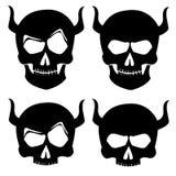 Silhoutte de tatouage de crâne illustration stock