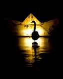 Silhoutte de un cisne Fotos de archivo libres de regalías