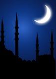 Silhoutte della moschea Fotografia Stock