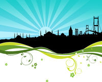 A silhoutte from Istanbul stock illustration