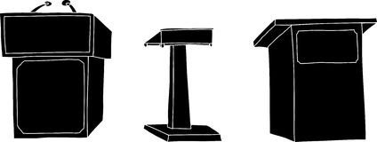Silhoutte Lecterns Royalty Free Stock Photography
