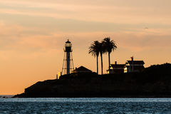 Silhoutte of the New Point Loma Lighthouse in San Diego
