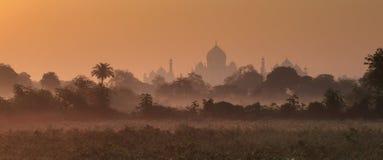 Silhoutte of Taj Mahal Royalty Free Stock Photo