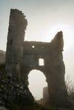 Silhoutte van ruïnes Royalty-vrije Stock Foto