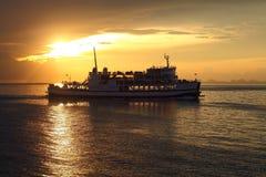 silhouttefartyg Royaltyfria Bilder
