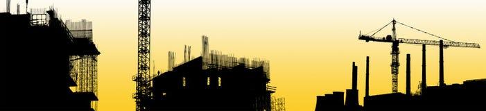 A silhueta a área industrial fotos de stock