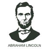 Silhueta Abraham Lincoln Foto de Stock Royalty Free