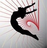 Silhueta acrobática. ilustração royalty free