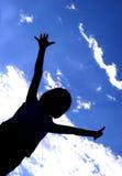 Silhueta alegre Imagem de Stock Royalty Free