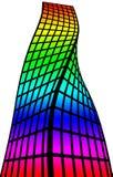 Silhueta arquitetónica e coloração Imagens de Stock Royalty Free