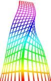 Silhueta arquitetónica e coloração ilustração do vetor