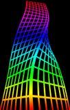Silhueta arquitetónica e coloração Fotos de Stock Royalty Free