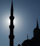 Silhueta azul da mesquita Fotos de Stock