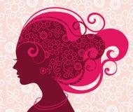 Silhueta bonita da mulher Imagens de Stock