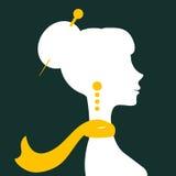 Silhueta bonita da mulher elegante Fotografia de Stock Royalty Free