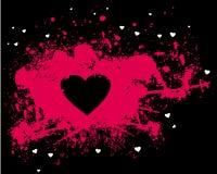 Silhueta cor-de-rosa do coração ilustração royalty free