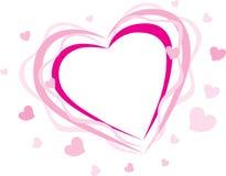 Silhueta cor-de-rosa do coração Imagem de Stock