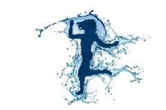 Silhueta 4 da água Imagem de Stock