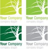 Silhueta da árvore do logotipo Imagens de Stock Royalty Free
