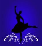 Silhueta da bailarina ilustração do vetor