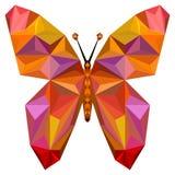 Silhueta da borboleta de Absgtract Fotografia de Stock