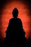 Silhueta da Buda imagem de stock royalty free