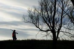 Silhueta da caça Foto de Stock Royalty Free