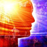 Silhueta da cabeça humana Imagem de Stock