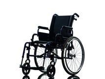Silhueta da cadeira de rodas imagem de stock