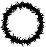 Silhueta da coroa de espinhos Imagem de Stock Royalty Free