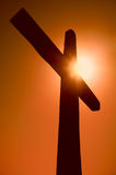 Silhueta da cruz Imagem de Stock Royalty Free