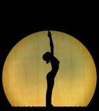 Silhueta da dança Fotografia de Stock