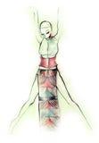 Silhueta da dança Fotografia de Stock Royalty Free