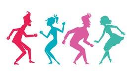 Silhueta da dança Fotos de Stock