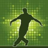 Silhueta da dança, breakdance Imagens de Stock