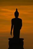 Silhueta da estátua de buddha fotos de stock
