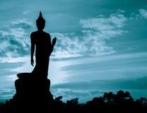 Silhueta da estátua de buddha Foto de Stock