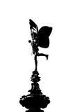 Silhueta da estátua do Eros Fotografia de Stock Royalty Free