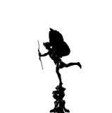 Silhueta da estátua do Eros Imagens de Stock Royalty Free