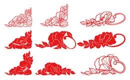 Silhueta da flor Ilustração Royalty Free