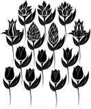 Silhueta da flor Imagem de Stock